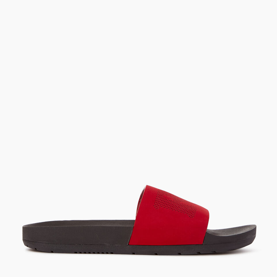 Roots-Footwear Our Favourite New Arrivals-Mens Long Beach Pool Slide-Chili Pepper-A