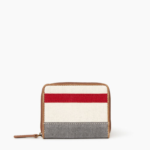 Roots-Women Our Favourite New Arrivals-Small Cabin Wallet-Grey Oat Mix-A