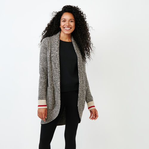 Roots-Women Categories-Roots Cotton Cabin Cardigan-Grey Oat Mix-A