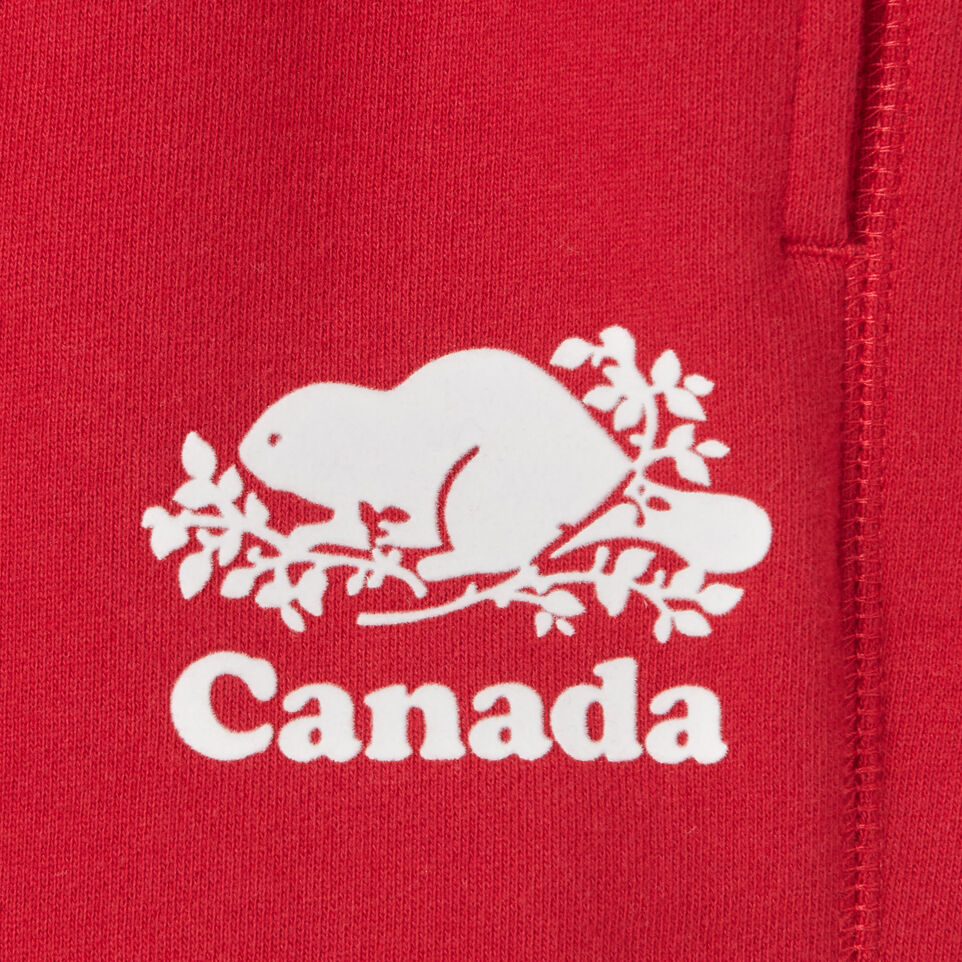 Roots-Kids Canada Collection-Girls Canada Short-Sage Red-C