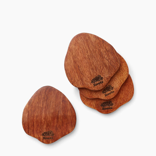 Roots-New For November General Store-Roots Wood Coasters-Natural-A