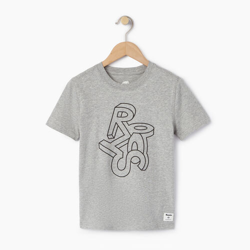 Roots-Kids Our Favourite New Arrivals-Boys Esher T-shirt-Grey Mix-A