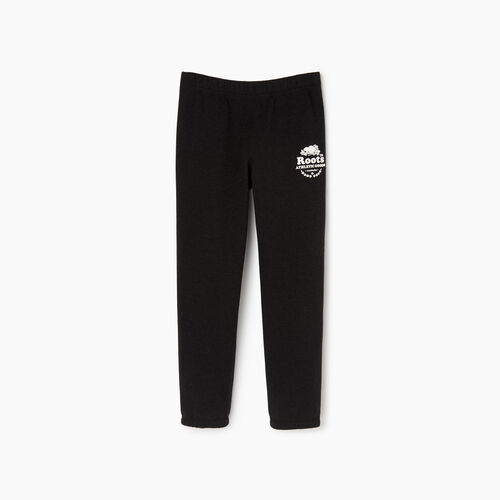 Roots-Kids Sweats-Boys Laurel Sweatpant-Black Mix-A