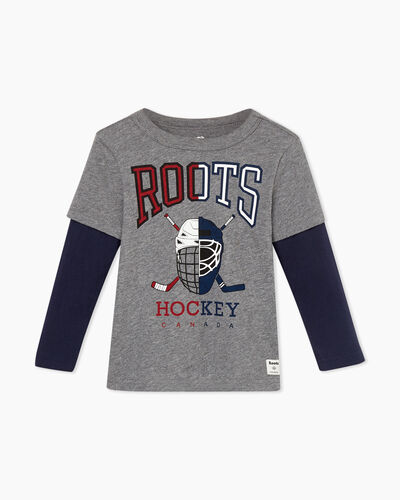 Roots-Sale Toddler-Toddler Hockey Fooler T-shirt-Medium Grey Mix-A
