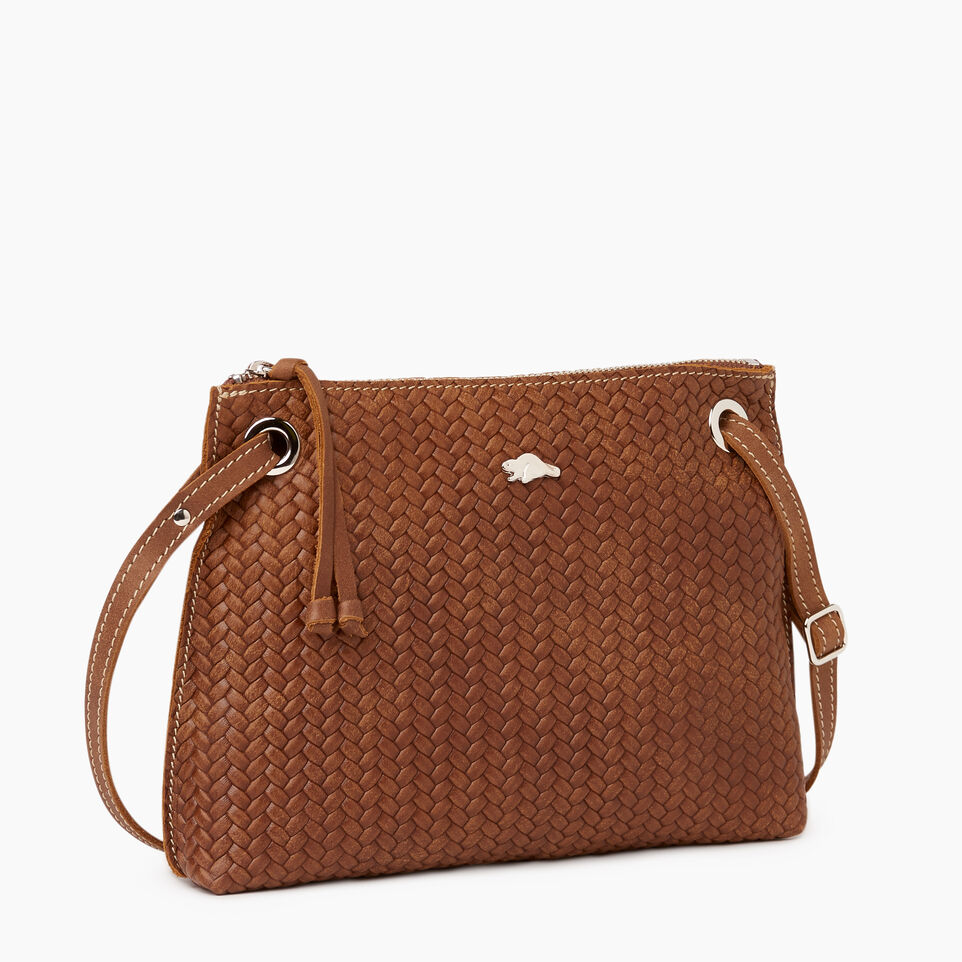 Roots-Leather  Handcrafted By Us Our Favourite New Arrivals-Edie Bag Woven-Natural-A