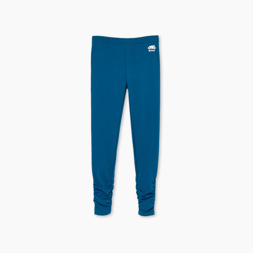 Roots-Kids Girls-Girls Cozy Ruched Legging-Moroccan Blue-A