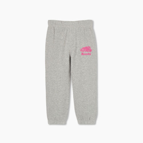 Roots-Kids Bottoms-Toddler Original Roots Sweatpant-Grey Mix-A