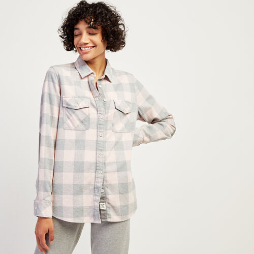 Roots-Women Bestsellers-Roots Park Plaid Shirt-Pink Mix-A