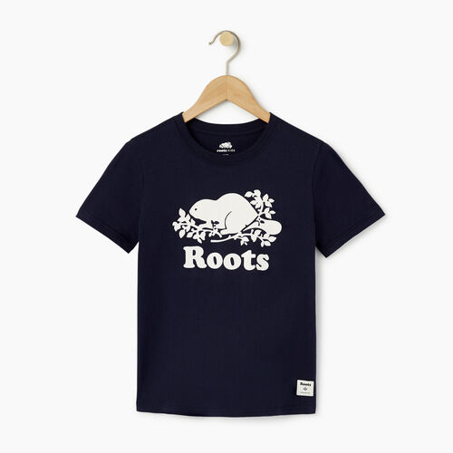 Roots-Kids Categories-Boys Original Cooper Beaver T-shirt-Navy Blazer-A