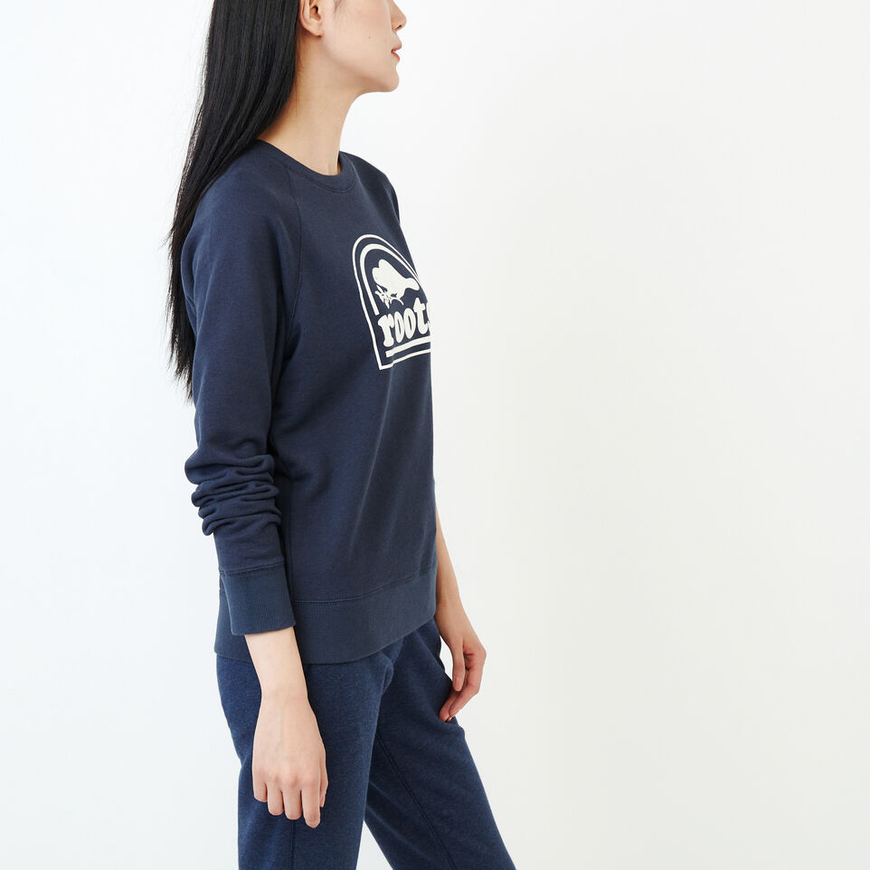 Roots-Women New Arrivals-Vault Relaxed Crew Sweatshirt-Graphite Mix-C
