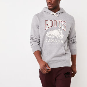 Roots-Men Bestsellers-Classic Kanga Hoody-Grey Mix-A