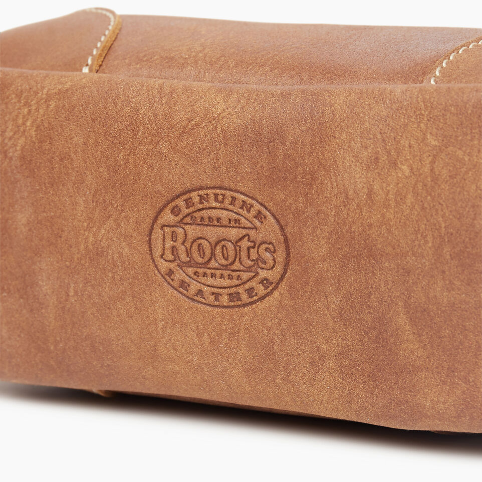 Roots-Leather New Arrivals-Small Banff Pouch Tribe-Natural-D