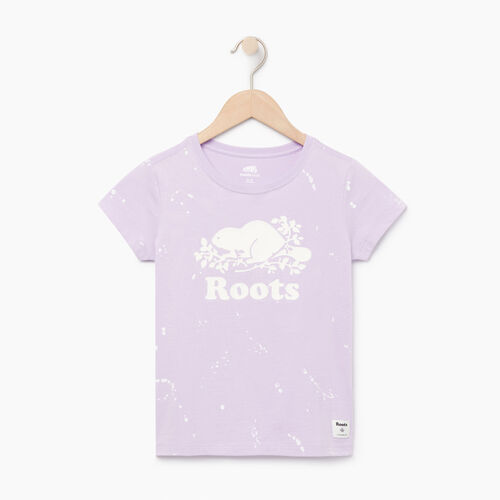 Roots-Clearance Kids-Girls Splatter Aop T-shirt-Lavendula-A
