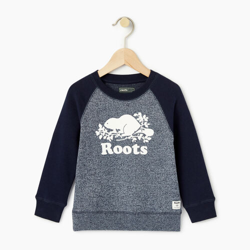 Roots-Kids Toddler Boys-Toddler Original Crewneck Sweatshirt-Navy Blazer Pepper-A
