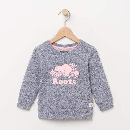 Roots-Kids Categories-Baby Original Crewneck Sweatshirt-Salt & Pepper-B
