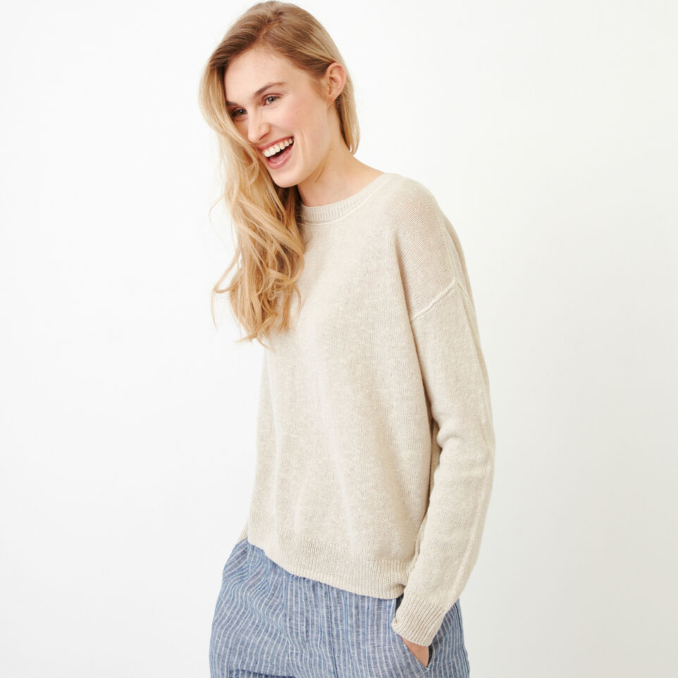 Roots-Women Our Favourite New Arrivals-Tathlina Crew Sweater-Natural-C