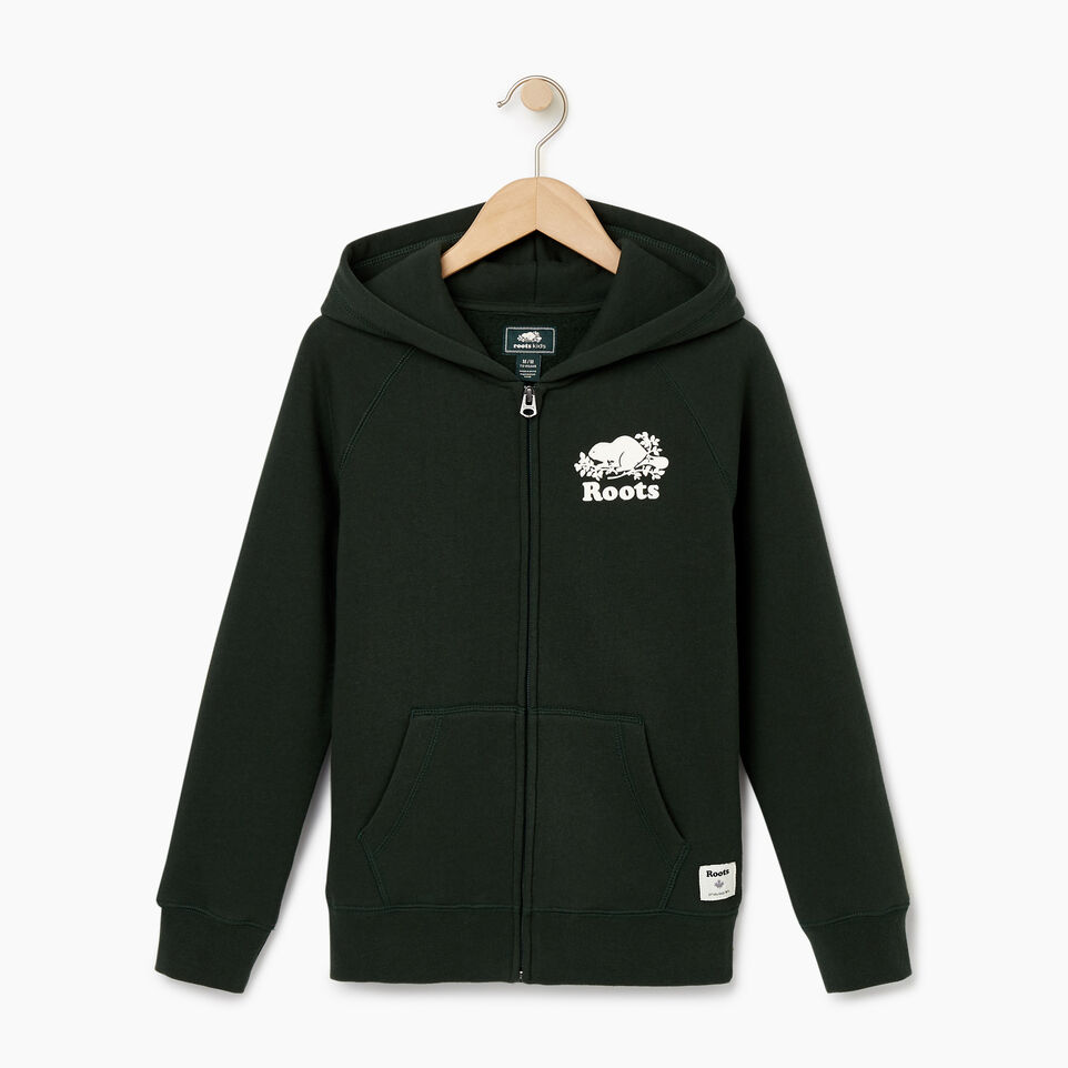 Roots-Sale Kids-Boys Original Full Zip Hoody-Park Green-A