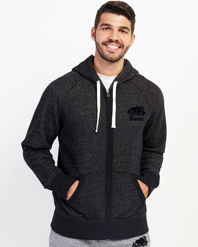 Roots-Men Sweatshirts & Hoodies-Original Full Zip Hoody-Black Pepper-A