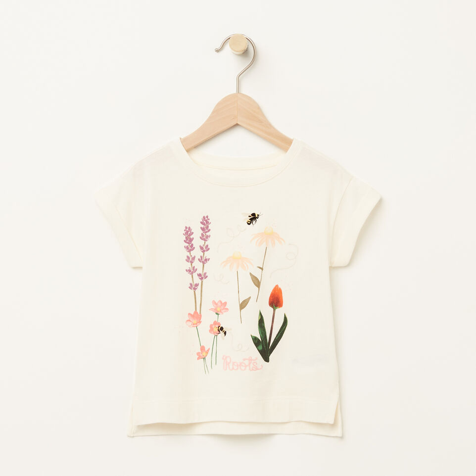 Roots-Toddler Floral Boxy T-shirt