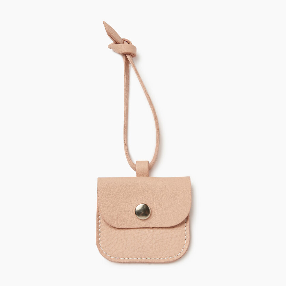 Roots-Leather Leather Accessories-Leather Tie Pouch-Pink Mist-A