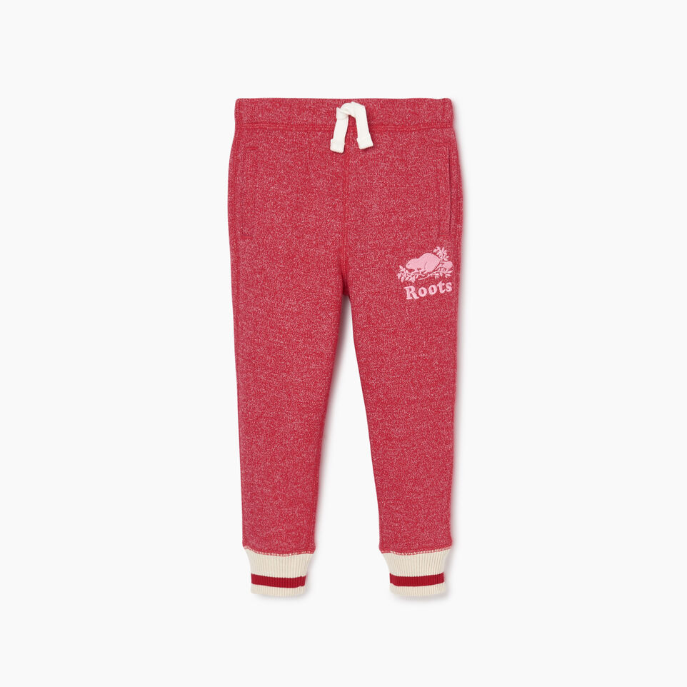 Roots-Kids Toddler Girls-Toddler Roots Cabin Cozy Sweatpant-Cabin Red Pepper-A