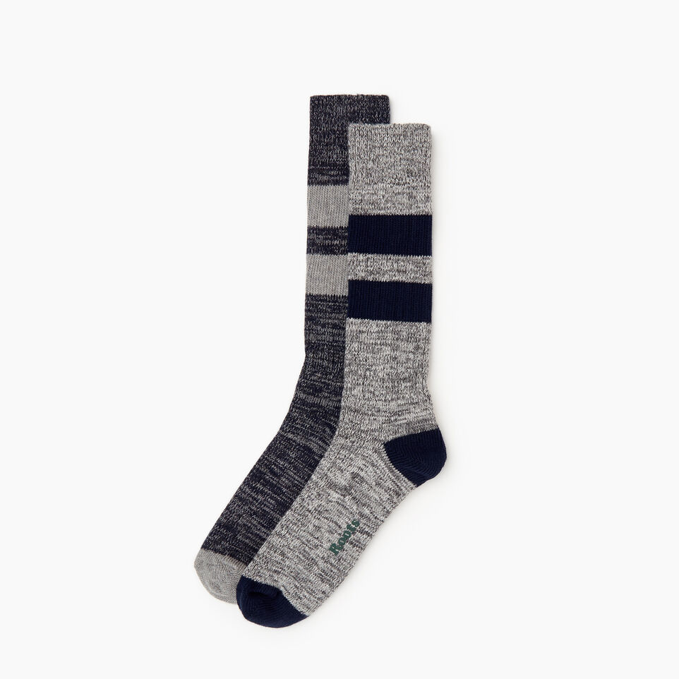Roots-Men Our Favourite New Arrivals-Camp Sock 2 Pack-Navy-B