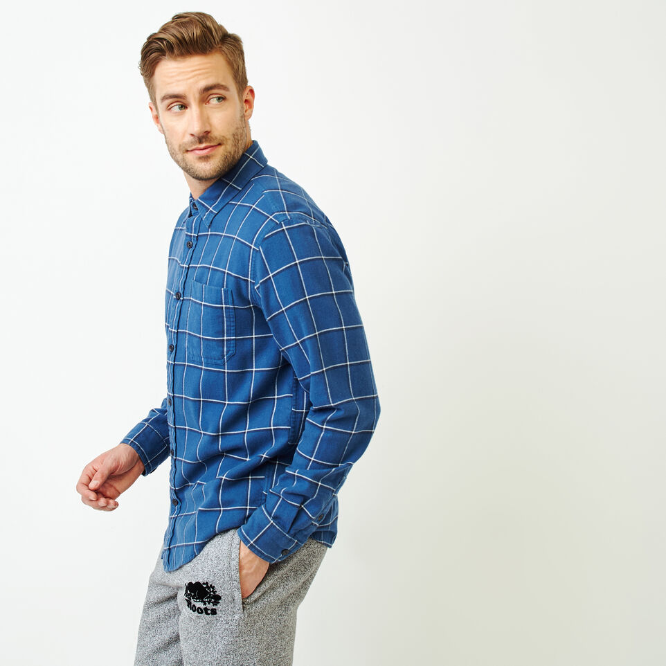 Roots-undefined-Lightweight Flannel Shirt-undefined-C