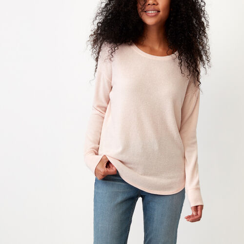 Roots-Women Long Sleeve Tops-Elk Top-Pink Cloud Mix-A