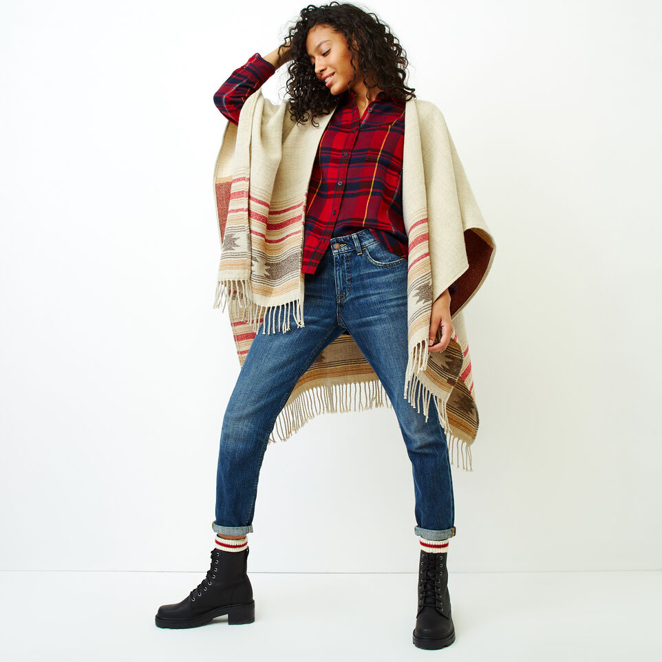 Roots-Women Our Favourite New Arrivals-Flannel Shirt-Cabin Red-B