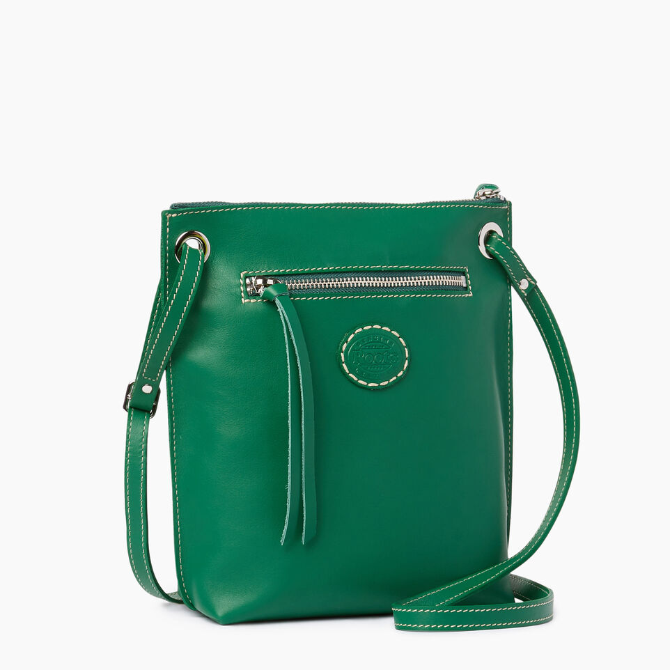 Roots-Leather  Handcrafted By Us Categories-Festival Bag-Emerald-C