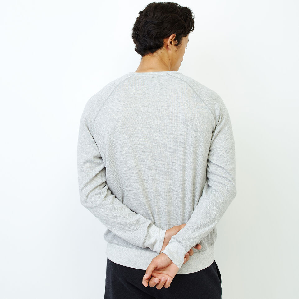 Roots-Men Our Favourite New Arrivals-Cozy Thermal Henley-Grey Mix Pepper-D