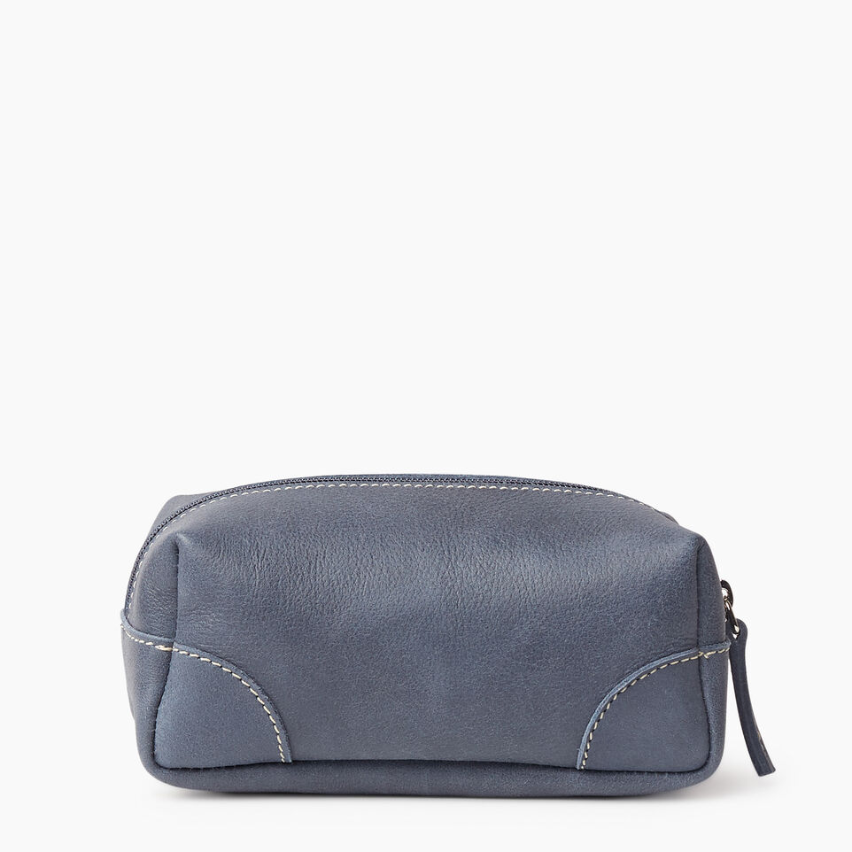 Roots-Leather New Arrivals-Small Banff Pouch Tribe-Navy-B