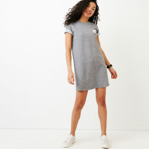 Roots-New For March Sweats-Edith Cuffed Dress-Salt & Pepper-A