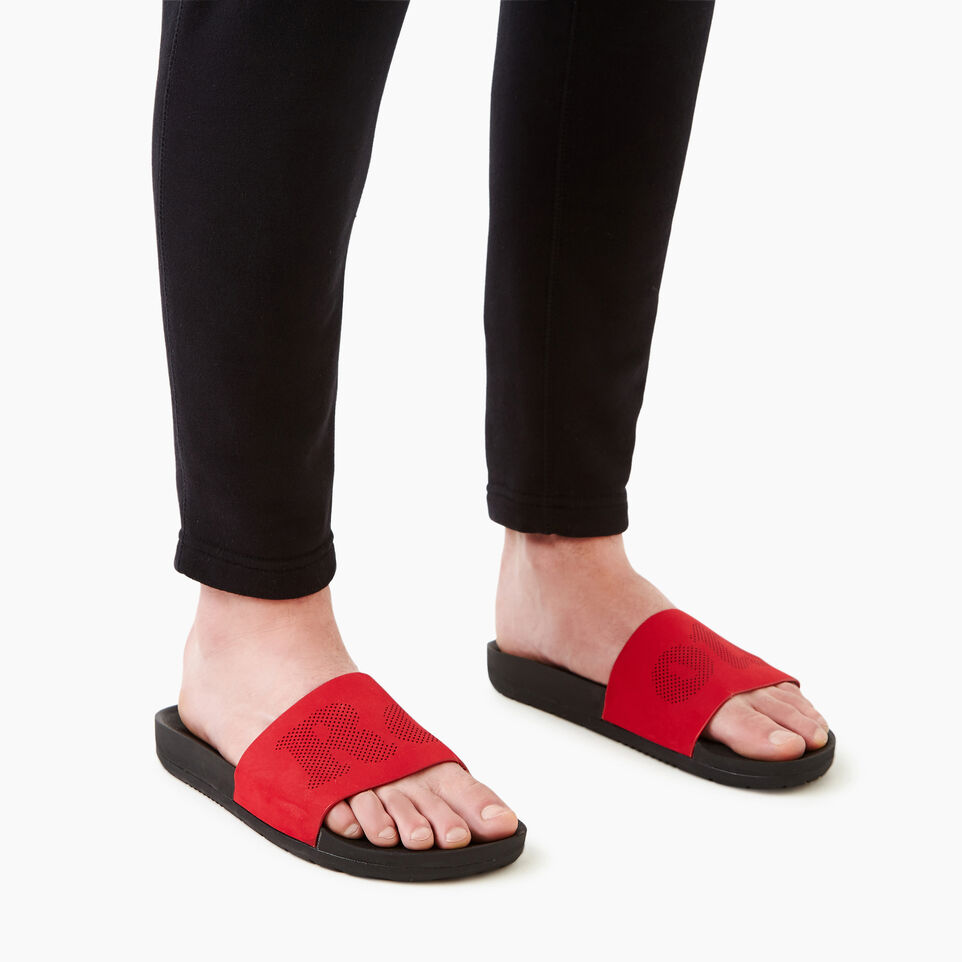 Roots-Footwear Our Favourite New Arrivals-Mens Long Beach Pool Slide-Chili Pepper-B