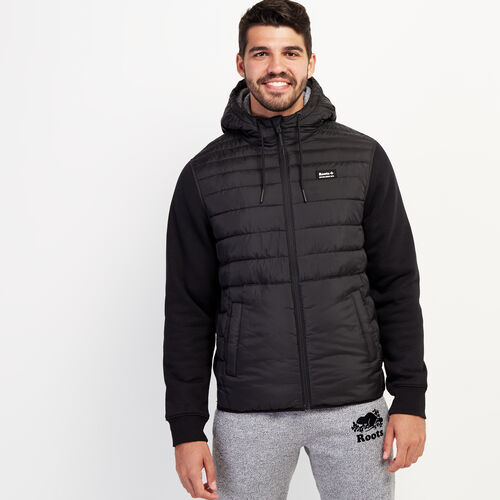Roots-Men New Arrivals-Journey Hybrid Jacket-Black-A
