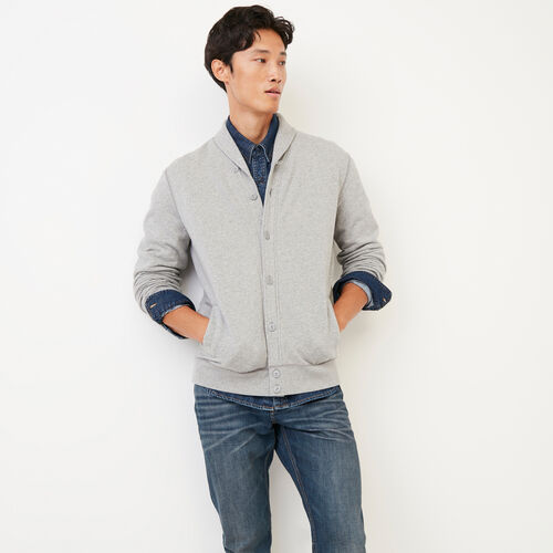 Roots-Clearance Men-Almonte Cardigan-Grey Mix-A