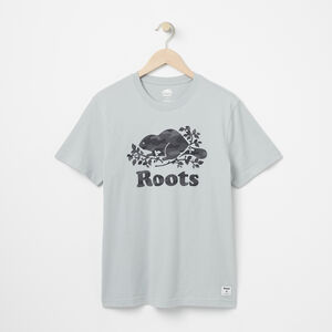Roots-Men Graphic T-shirts-Mens Cooper Camo T-shirt-Belgian Block-A