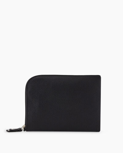 Roots-Leather New Arrivals-Travel Commuter Pouch Cervino-Black-A