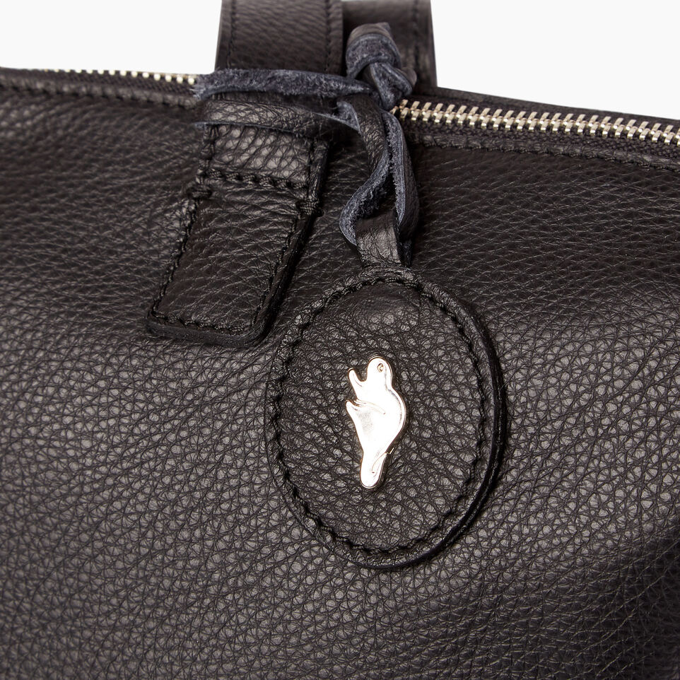 Roots-Leather Categories-Go To Bag-Black-E