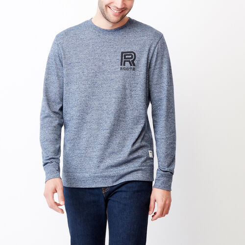Roots-Men Categories-Clearwater Longsleeve Top-Blue Pepper-A