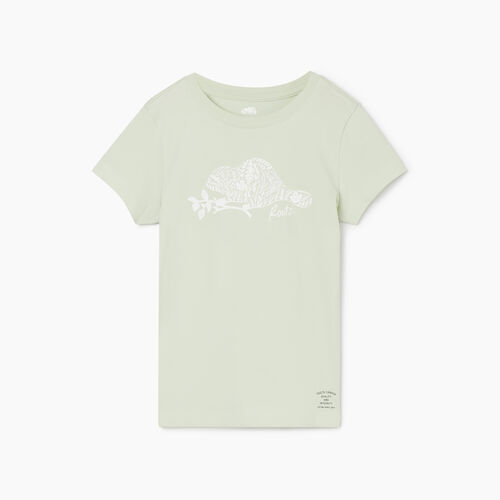 Roots-Kids Girls-Girls Woodland Animal T-shirt-Sea Foam-A
