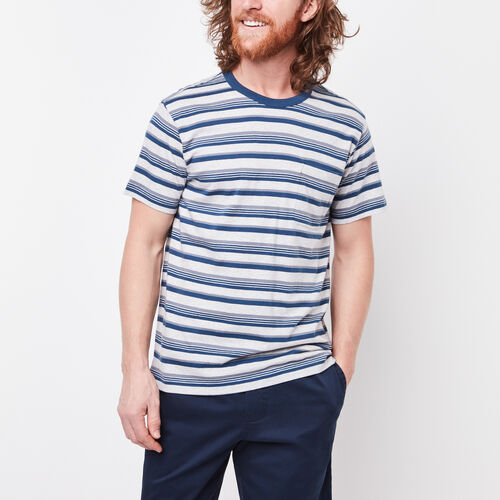 Roots-Sale Tops-Caspian Striped Pocket T-shirt-Snowy Ice Mix-A
