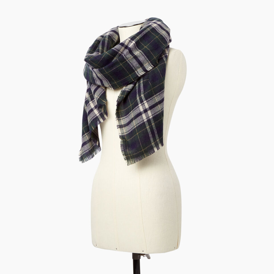 Roots-undefined-Varsity Plaid Scarf-undefined-B