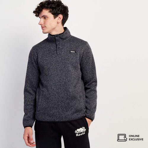 Roots-New For November Men-Journey Sweater Snap Stein-Black Pepper-A