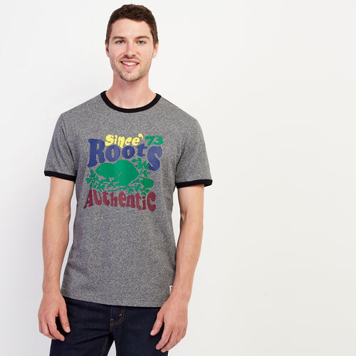 Roots-Sale Tops-Mens Groovy Ringer T-shirt-Salt & Pepper-A
