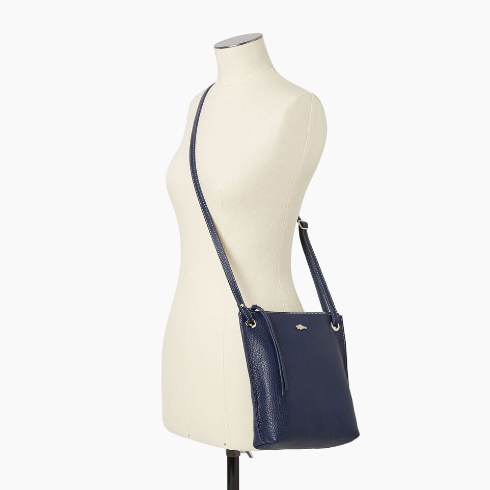 Roots-Leather  Handcrafted By Us Our Favourite New Arrivals-Festival Bag-Navy-B