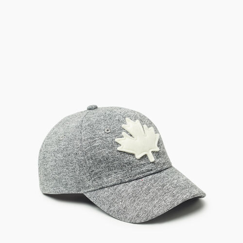 Roots-Kids Accessories-Kids Canada Baseball Cap-Salt & Pepper-A