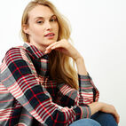 Roots-Women Tops-Flannel Shirt-Cabin Red-E