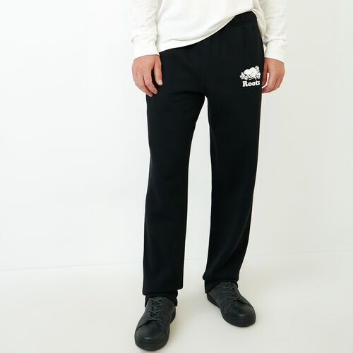 Roots-Men Sweats-Heritage Sweatpant-Black-A