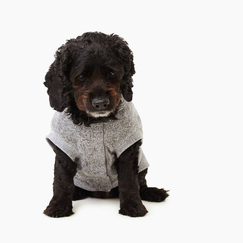 Roots-New For March Dog Accessories-Pooch Salt and Pepper Hoody Size 18-Salt & Pepper-A